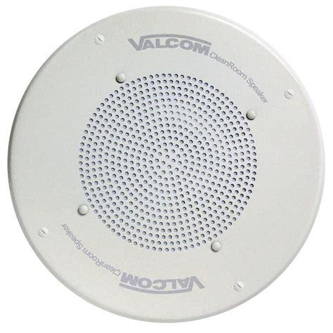 valcom clean room ceiling speaker vc v 1040 the home depot