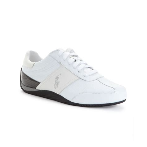 white mens sneakers lyst ralph bentwinds sneakers in white for