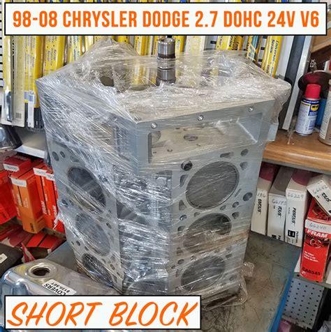 2 7 Chrysler Engine For Sale by Rebuilt 98 08 Chrysler Dodge 2 7 Block Engine