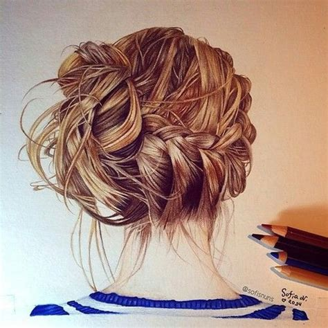 realistic plait hair styles 19 best images about drawing about hair style on pinterest