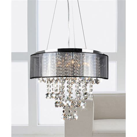 dining room chandeliers with shades this stunning modern crystal chandelier makes an elegant