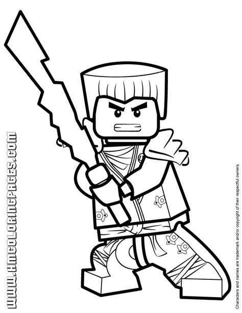 ninjago coloring pages zane zx ninjago zane kx in elemental robe coloring page h m