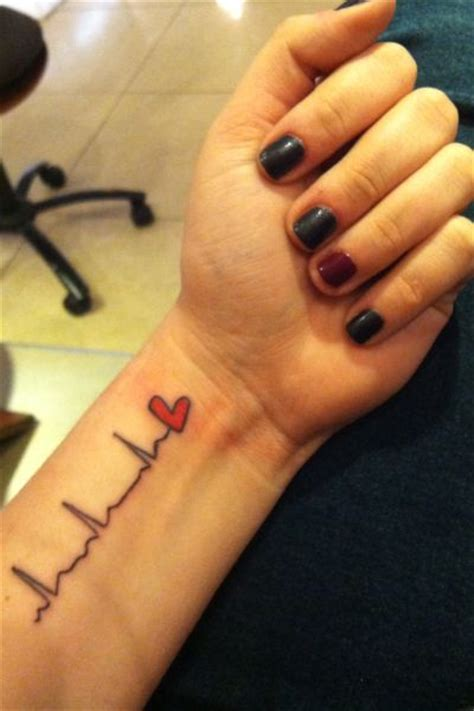 heartbeat rn tattoo pin by cally baker on tattoo ideas pinterest