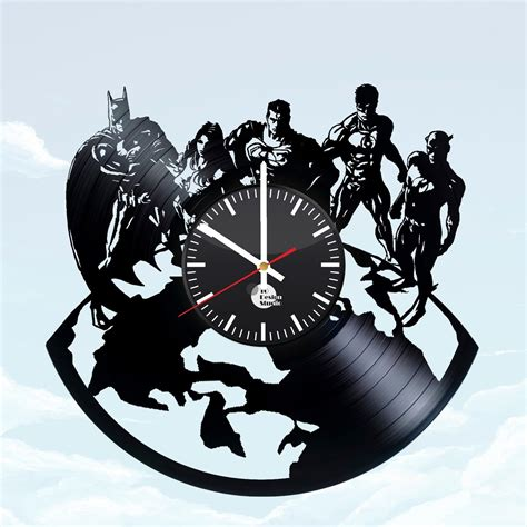 justice league bedroom decor justice league handmade vinyl record wall clock living room decor vinyl clocks