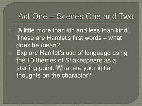 themes of hamlet act 4 introduction to hamlet with exercises on act one scenes