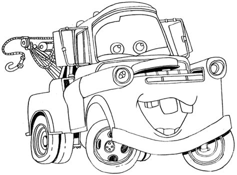 Mater The Tow Truck Images Tow Mater Coloring Page Mater Coloring Pages