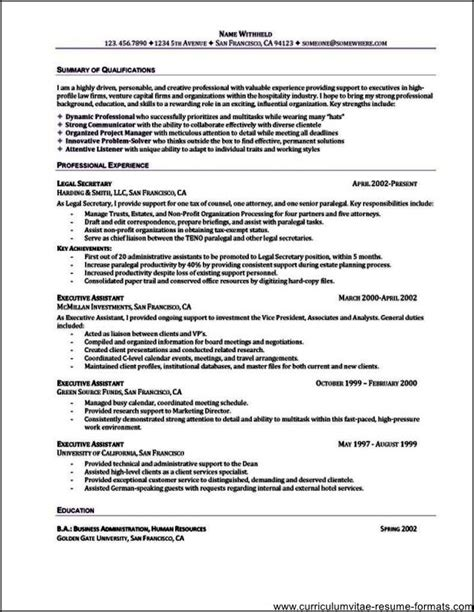 Assistant Summary For Resume
