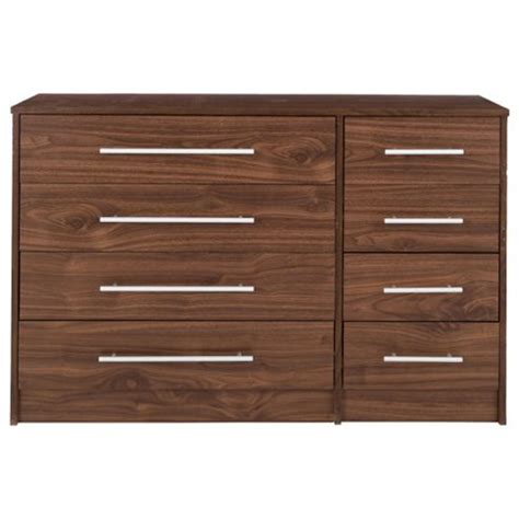 Walnut Effect Chest Of Drawers buy kendal walnut effect chest of drawers 8 drawer chest