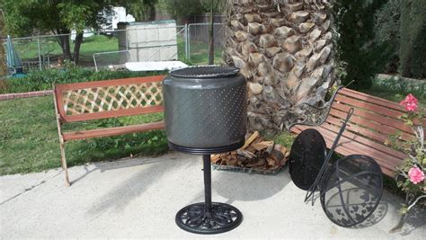 patio wood burning heaters combo bbq s home