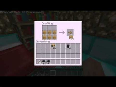 minecraft how to make trapdoor wooden slabs and pressure