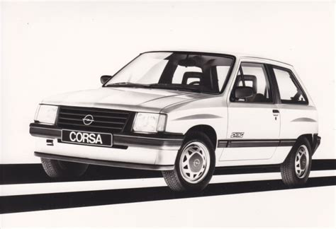 opel swing opel corsa swing 1984 car factory press photos