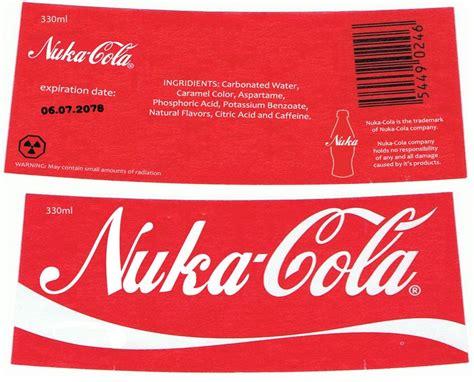 nuka cola cap template nuka cola label by nig 1988 on deviantart