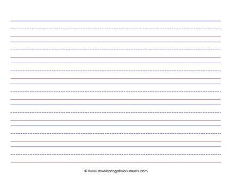 free worksheets printable writing paper kindergarten free math