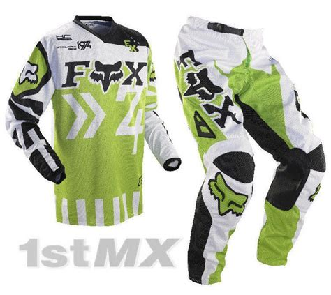 green motocross gear fox 180 hc anthem green mx motocross gear kit 30