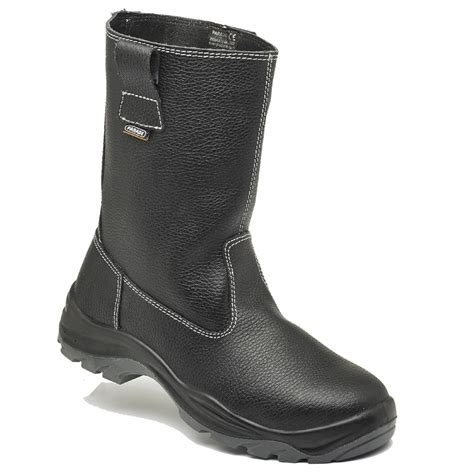 in rigger boots parade footwear siroka black leather fur lined mens safety