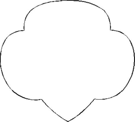 Guide Trefoil Outline by Scout Logo Colouring Pages Page 2