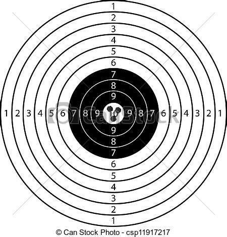 printable marksman targets clip arte vetorial de alvo tr 234 s tiros alvo desporto