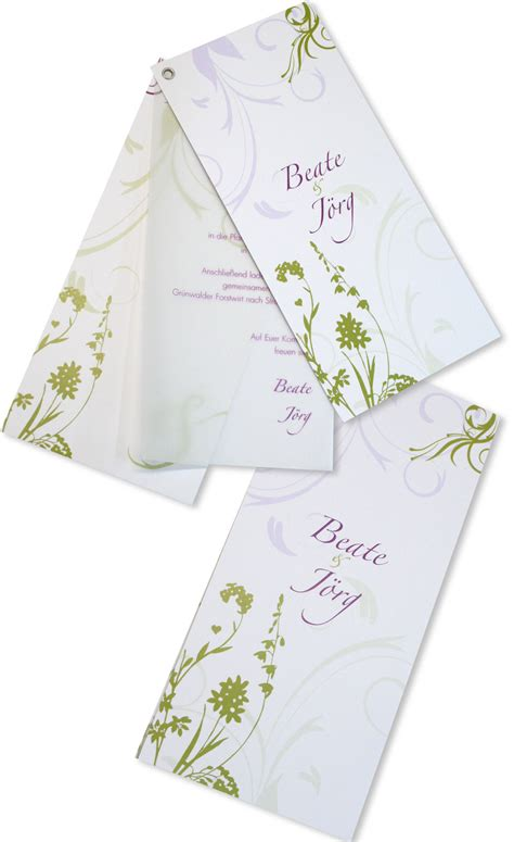 Hochzeitseinladung Ornament by Hochzeitseinladung 214 Senkarte Bl 252 Hende Ornamente