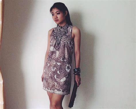 design dress terbaru model dress batik kombinasi auto design tech