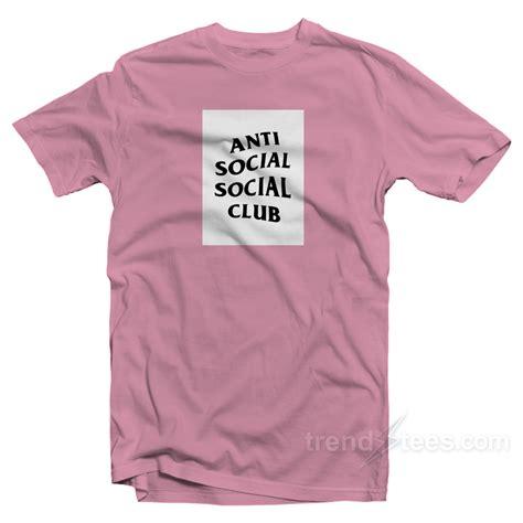 kaos tshirt anti sosial sisial club logo box anti social social club box logo white t shirt
