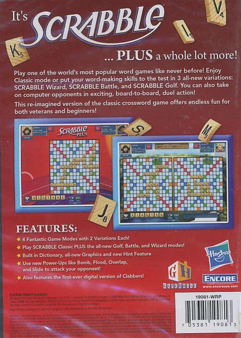 scrabble plus scrabble plus crossword board for windows xp vista pc