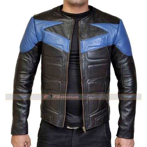 leather bike jackets for sale nightwing leather motorcycle jacket costume for sale