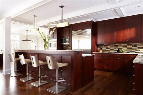 Cherry Kitchen Cabinets Kitchen Contemporary With Arched Modern Cherry Kitchen Cabinets