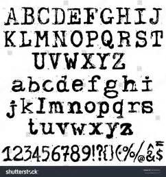 printable typewriter font vector old typewriter font vintage grunge stock vector