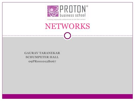Mba Ppt On Telecommunication Industry by Presentation On Networks In Terms Of Economics
