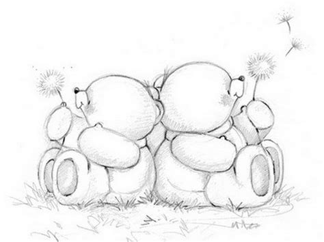 10 lovely teddy bear drawings for inspiration hative