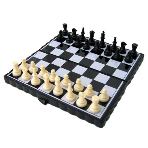 magnetic chess 2 in 1 magnetic folding peach wood chess checker board game