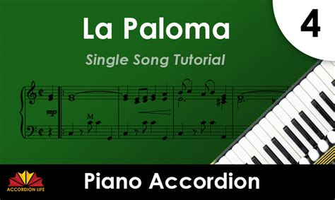tutorial piano la paloma how to play la paloma on piano accordion with yev nosov