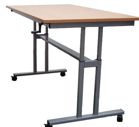 height adjustable table winding handle standing desk
