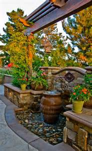 patio water features fountains outdoor ideas home design