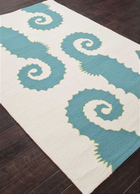 6x9 Indoor Outdoor Rug Seahorse Slate Blue Indoor Outdoor Area Rug 7 6x9 6
