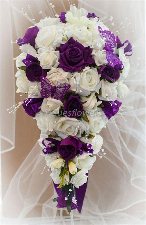 Details about Wedding Flowers Brides teardrop Bouquet in