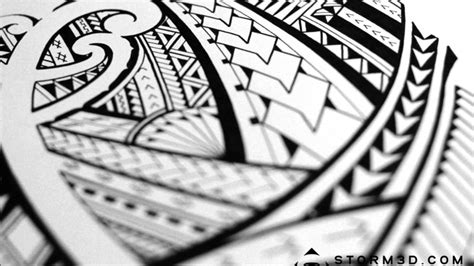 tribal pattern sketch drawing a samoan tribal tattoo design time lapse youtube