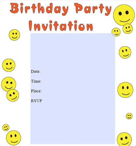 Happy Birthday Invites Template by Sle Birthday Invitation Template 40 Documents In Pdf