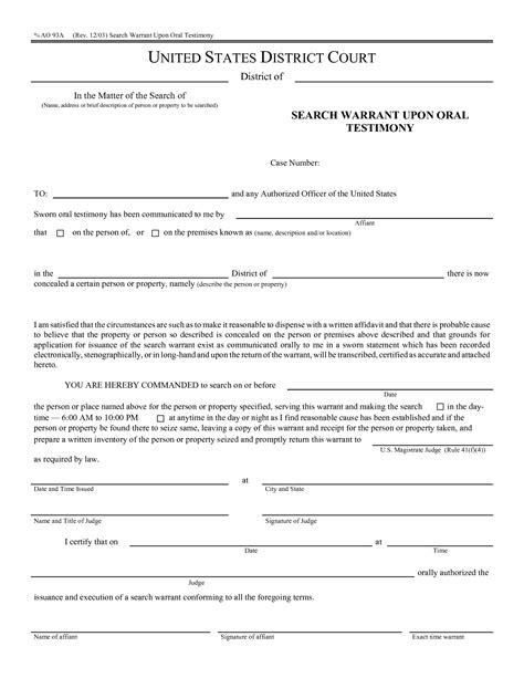 26 Images Of Template Application For Search Warrant Helmettown Com Arrest Affidavit Template