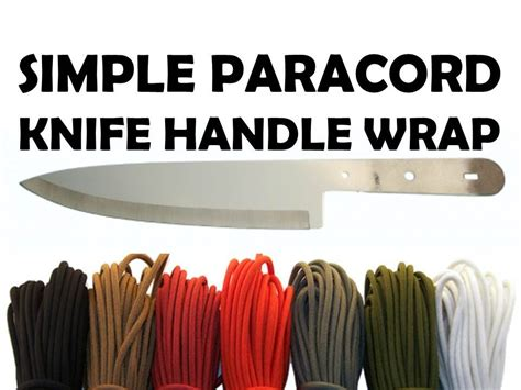 how to wrap a handle with paracord how to wrap a knife handle with paracord simple 3 5
