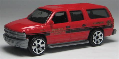 matchbox chevy suburban huntley fire department vehicle in matchbox cars