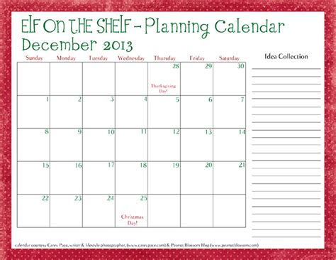 free printable elf on the shelf calendar december 2015 elf calendar calendar template 2016