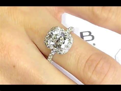 engagement rings cushion cut 2 carat 2 carat cushion cut halo engagement ring