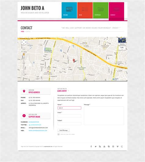 page one responsive vcard resume html template page one responsive vcard resume html template by