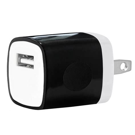 Adaptor Mobile Charge usb home wall charger travel adapter for ios and android mobile devices black