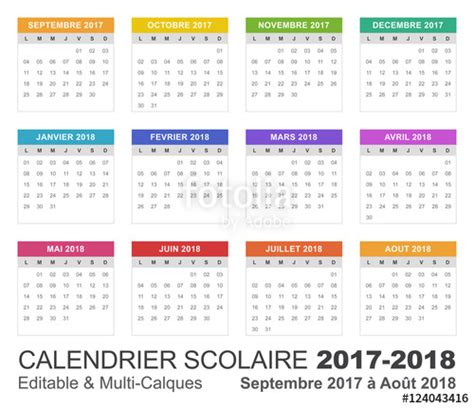 Calendrier Scolaire Vaud Quot Calendrier Scolaire 2017 2018 Quot Fichier Vectoriel Libre