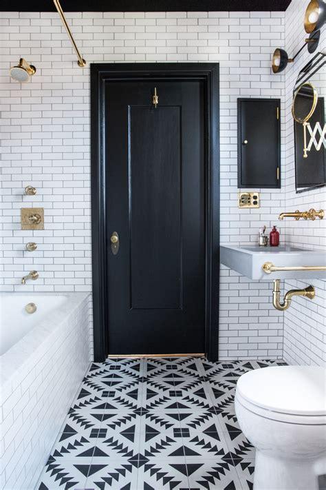 small bathroom ideas  black white brass cococozy