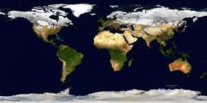 World Satellite Map by Winter World Physical Satellite Image Giclee Print
