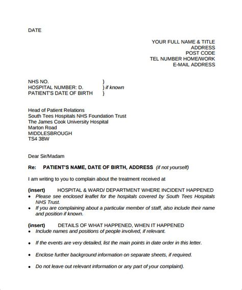 Business Complaint Letter Pdf Sle Complaint Letter Format 9 Documents In Pdf Word Sle Templates