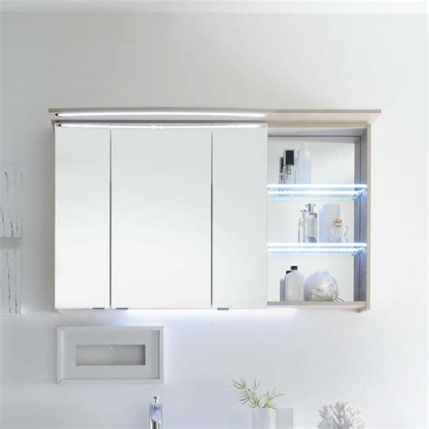 contea bathroom mirror cabinet 3 doors with